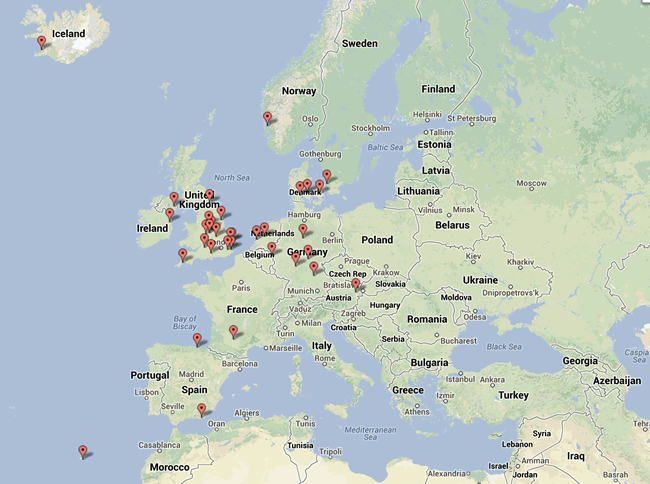 The worldwide map of BCI members
